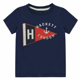 Hackett Short Sleeve Flag T Shirt