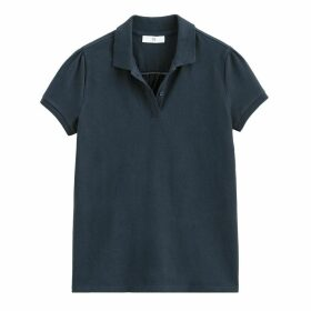 Cotton Short-Sleeved Polo Shirt