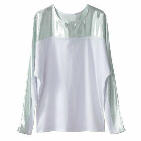 Metallic Dual Fabric T-Shirt