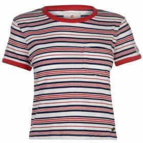 SoulCal Cropped Stripe T Shirt