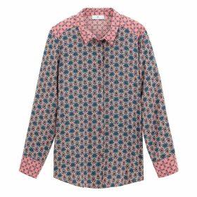 Floral Tile Print Shirt