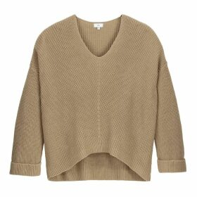 Ribbed Cropped Fine Knit Jumper