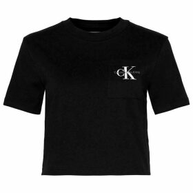 Calvin Klein Jeans Cropped Mono T Shirt