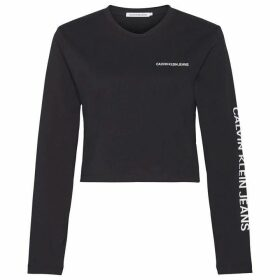 Calvin Klein Jeans Long Sleeve Crop Institutional T Shirt