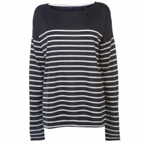 Gant Gang Long Sleeve Striped Top Womens