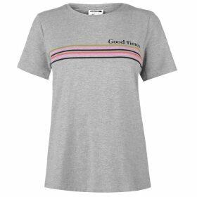 Noisy May Nate Stripe T Shirt