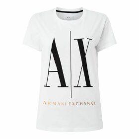 Armani Exchange AX Logo Foil Top Ld00