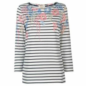 Barbour Lifestyle Seaglow Striped T Shirt Ladies