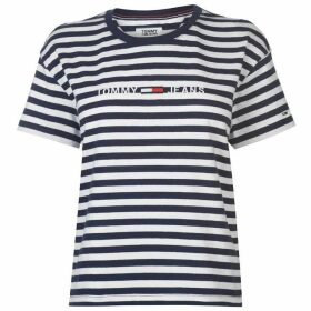Tommy Jeans Tommy Stripe Logo T Shirt