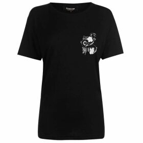 Firetrap Blackseal Chest Print T Shirt