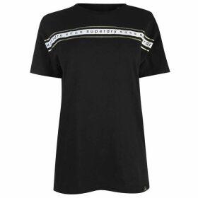Superdry Womens Minimal Logo Tape Portland T-Shirt