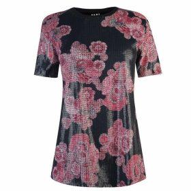 DKNY Print Sequin Top