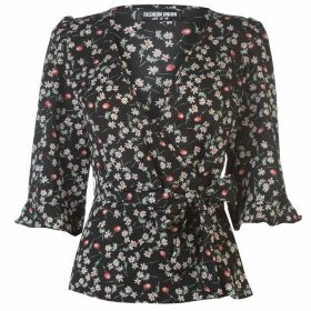 Fashion Union Fashion Nena Print Top Ladies