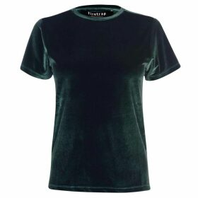 Firetrap Blackseal Velvet T Shirt