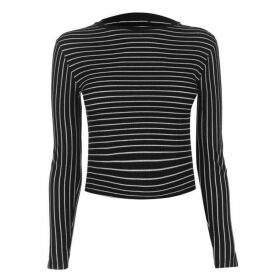Firetrap Blackseal Long Sleeve Striped T Shirt
