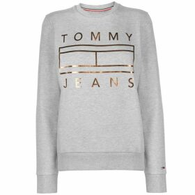 Tommy Jeans Tommy Metallic Logo Sweater Womens