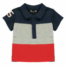 Benetton Block Stripe Polo Shirt