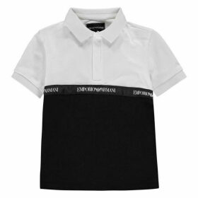 Emporio Armani Zip Colour Block Polo Shirt