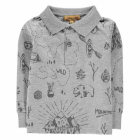 Rock and Wilde Long Sleeve Doodle Polo Shirt