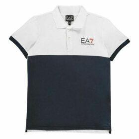 EA7 Colour Block Polo Shirt