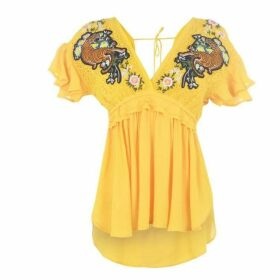 Biba Tiger Embroidered Blouse