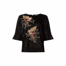 Biba Velvet Embroidered Blouse