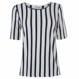 JDY Navy Striped Blouse