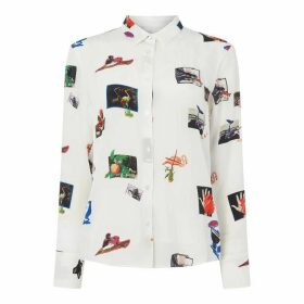 Paul Smith PS Scrapbook Shirt Ld92