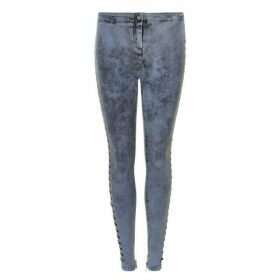 JUST CAVALLI Slim Lace Up Jeans