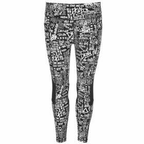 DKNY High Waisted Graffiti Leggings Ladies