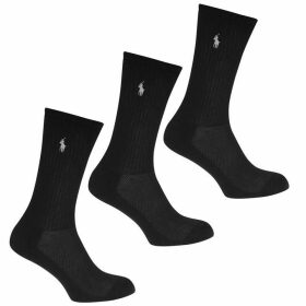 Polo Ralph Lauren Bodywear PL Black 3p Ankle Ld00