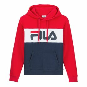 Lori Cotton Mix Colour Block Hoodie with Logo and Pocket