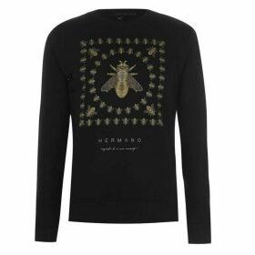 Hermano Mens Printed Sweater