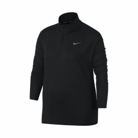 Zip-Up Long-Sleeved T-Shirt