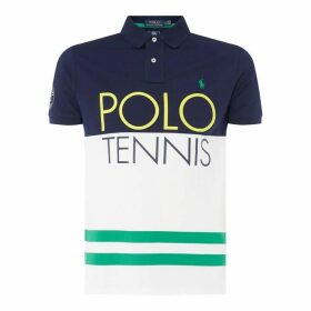 Polo Ralph Lauren Polo Wimb Print Polo Sn92