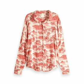 Palm Printed Long-Sleeved Shirt