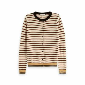 Striped Fine Knit Cardigan