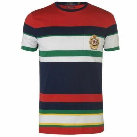 Polo Ralph Lauren Polo Mens Newport Crest Multi-Coloured Striped Knitted T-Shirt