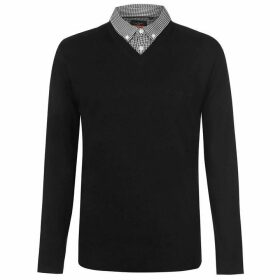 Pierre Cardin Mock V Neck Knit Mens