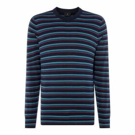 PS by Paul Smith PS BlckStrp Crw Knit Sn92