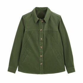 Linen/Cotton Utility Safari Jacket