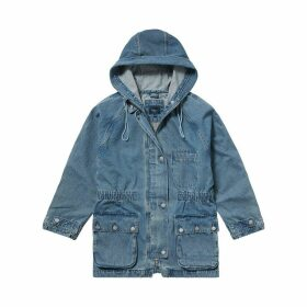 Emi Denim Hooded Parka with Pockets