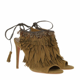 Aquazzura Sandals - Pocahontas Tassel Sandals Khaki - green - Sandals for ladies