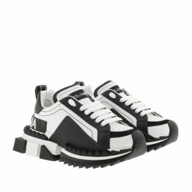 Dolce&Gabbana Sneakers - Super Queen Sneakers Leather White/Black - white - Sneakers for ladies