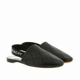 Givenchy Loafers & Slippers - Sling Back Flat Mules Quilted Leather Black - black - Loafers & Slippers for ladies