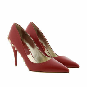 Valentino Pumps - Rockstud High Heels Leather Red - red - Pumps for ladies