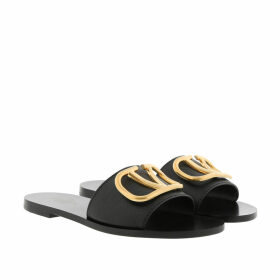 Valentino Loafers & Slippers - V Ring Sandals Black - black - Loafers & Slippers for ladies