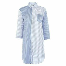 Lauren by Ralph Lauren Roll Stripe Shirt Nightshirt