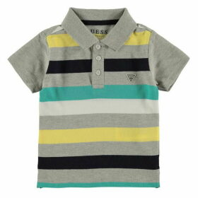 Guess Stripe Short Sleeve Polo Shirt