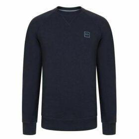 Boss Wyan French Terry Logo Patch Sweatshirt